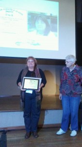 Hilda receiving AAZK award