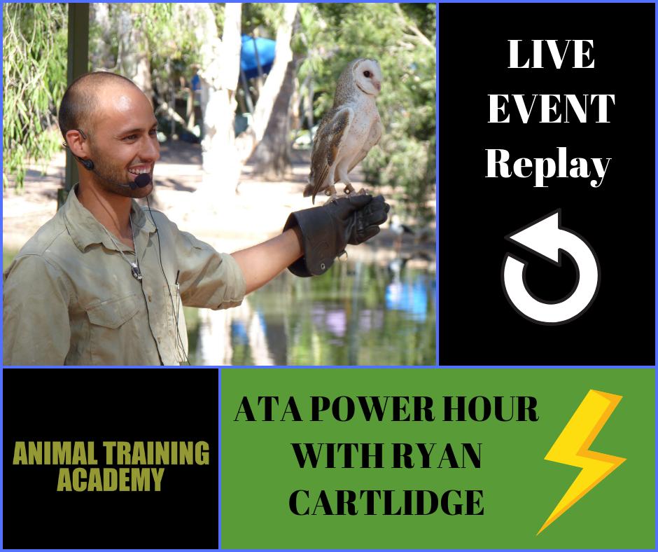 ATA power hour with Ryan Cartlidge – November 2018.